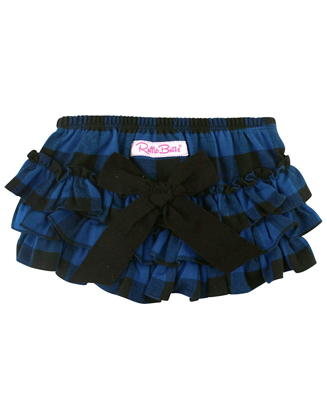 RuffleButts Baby//Toddler Girls Denim Ruffle Skirted Bloomer
