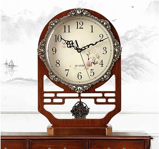 JIAHE115 Mesa de Reloj Decoración de la Sala de Estar Ornamentos ...