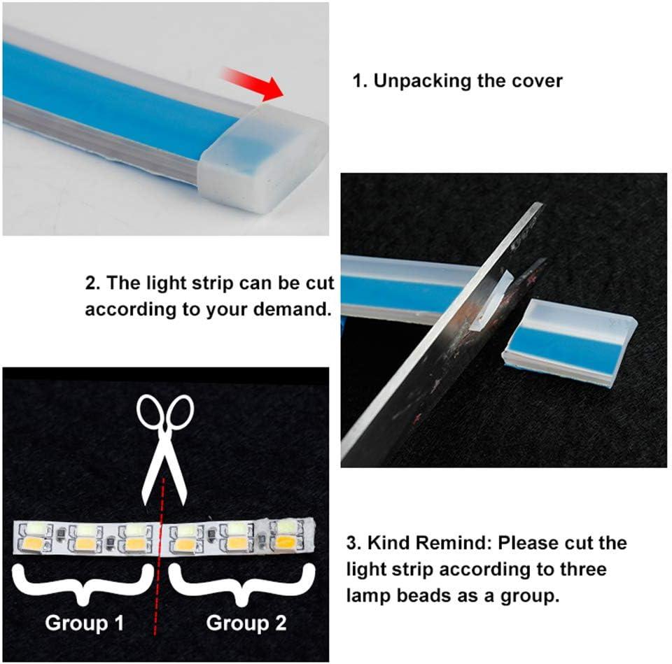 Lovelychica DRL LED Strip Lights,LED Headlight Surface Strip Tube Light White /& Amber Yellow Daytime Running Light Waterproof DRL Neon Lights Turn Signal Bulb