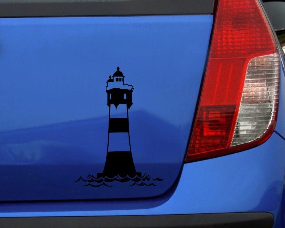 Samunshi Aufkleber Leuchtturm Roter Sand Autoaufkleber In 12 Größen Und 25 Farben 7 4x10cm Weiß Küche Haushalt