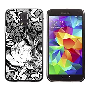 Licase Hard Protective Case Skin Cover for Samsung Galaxy S5 - Cool Tattoo Illustration