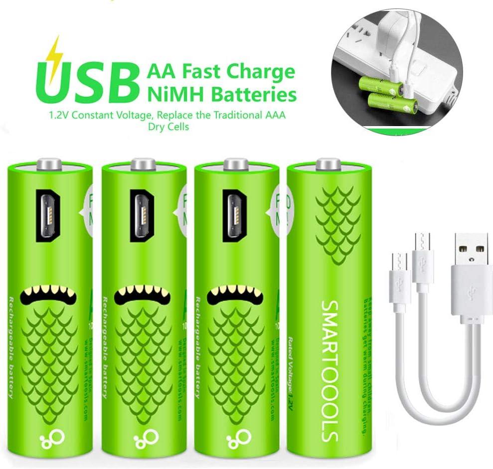 #1 Blanc Homyl Chargeur USB Recharge Pile Batterie Nimh Nicd AA//AAA Ordinateur Lampe De Poche