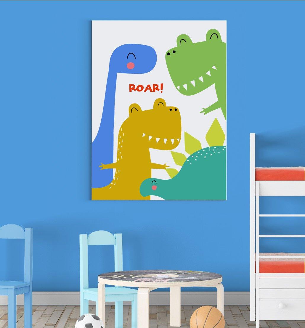 Dinosaurs Roar Family Scandinavian Animal Nursery Wall Decor Art Poster Print Inspired Walls®