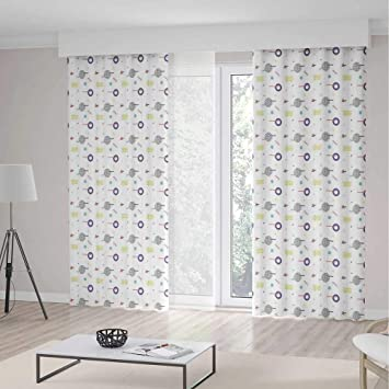 Amazon.com: Cortinas geométricas decorativas, diseño retro ...