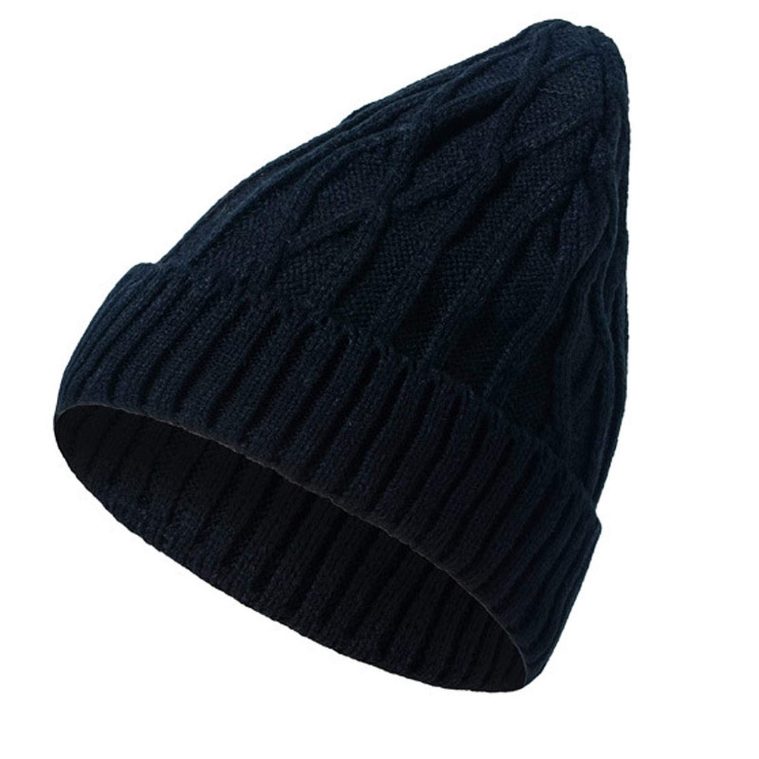 100/% Acrylic Soft Stretch Diamond Plaid Winter Hat Men Women Knitted Hat Beanies Skull Cap