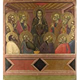 Oil painting 'Barnaba da Modena Pentecost ' printing on high quality polyster Canvas , 8 x 9 inch / 20 x 22 cm ,the best Bathroom decoration and Home gallery art and Gifts is this High Resolution Art Decorative Prints on Canvas