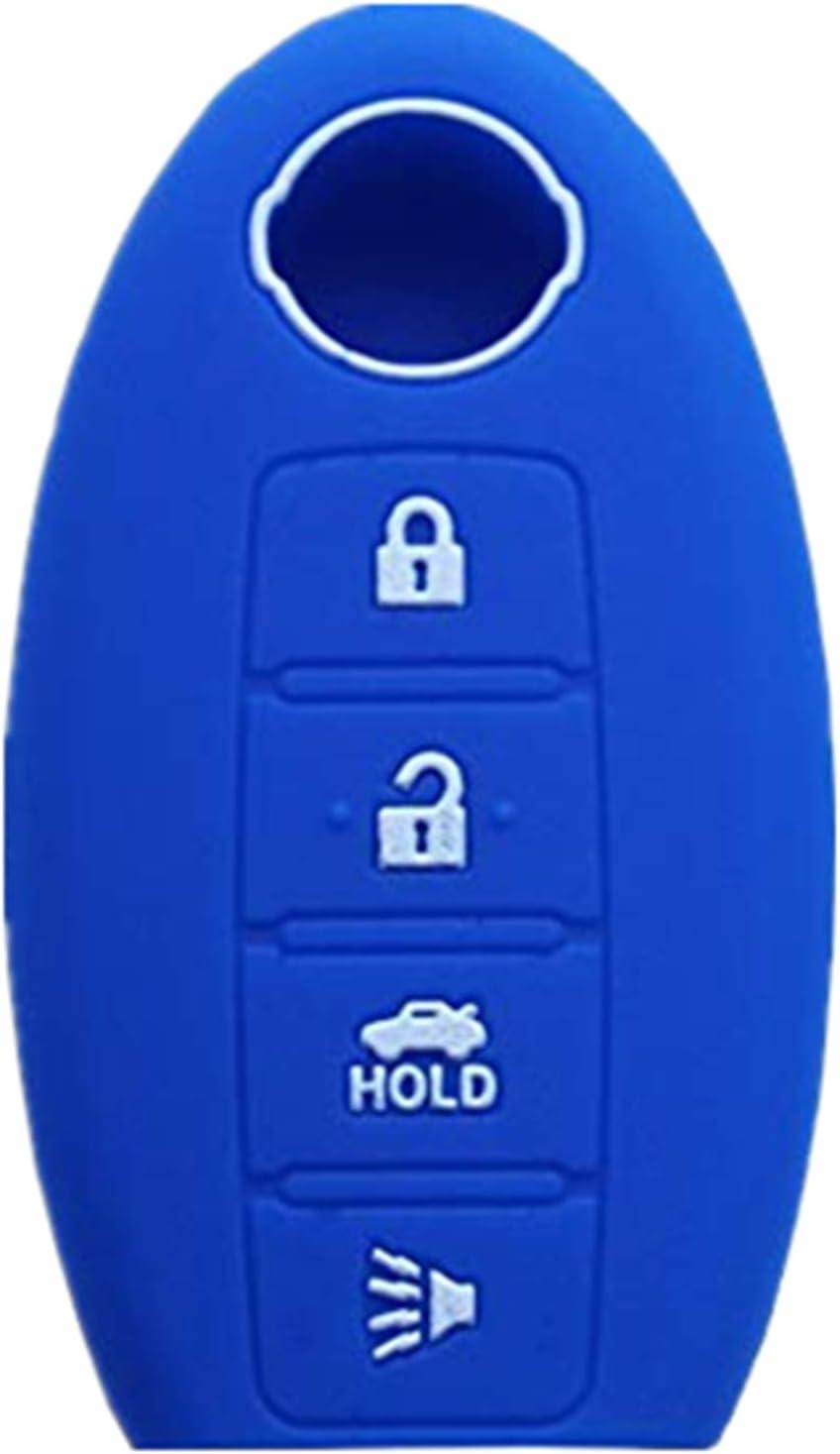 Rpkey Silicone Keyless Entry Remote Control Key Fob Cover Case protector For Nissan Altima Maxima Murano Versa 285E3-JA05A KR55WK48903 Blue