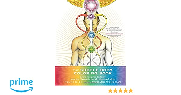 the subtle body coloring book learn energetic anatomy from the chakras to the meridians and more cyndi dale 9781622036073 books amazonca - Human Body Coloring Book