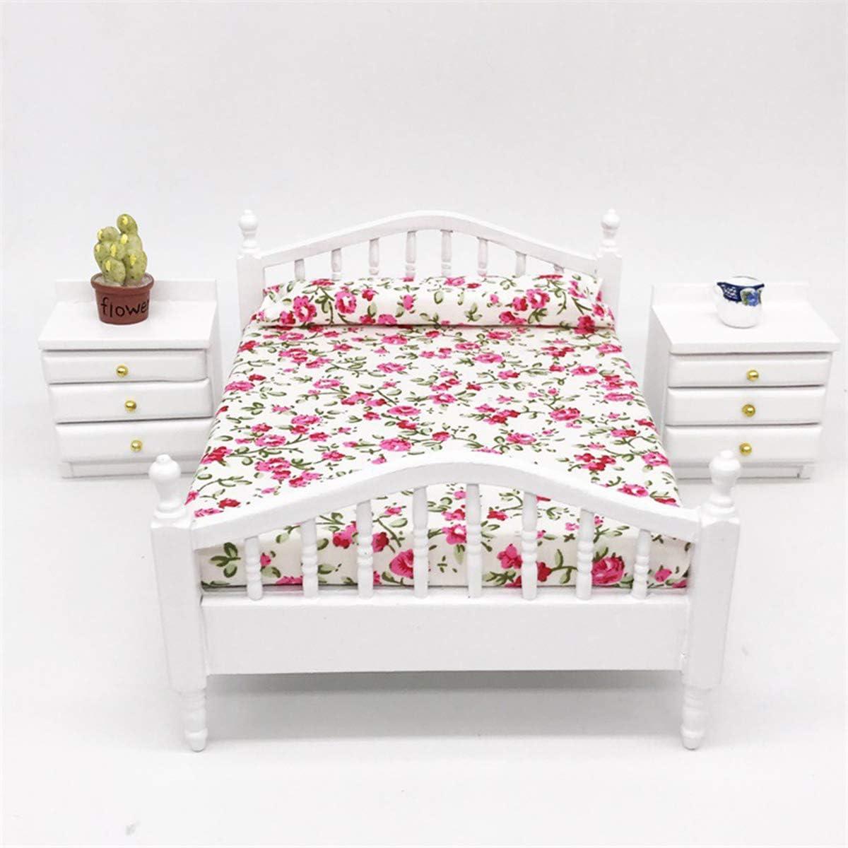 Caja de Madera Manta//artículo de calidad de tronco 1; 12 Escala Accesorio Dormitorio de casa de muñecas