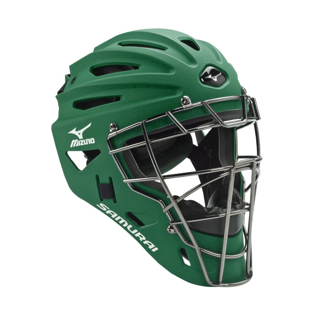 Mizuno G4 Samurai Catcher's Helmet, Forest by Mizuno
