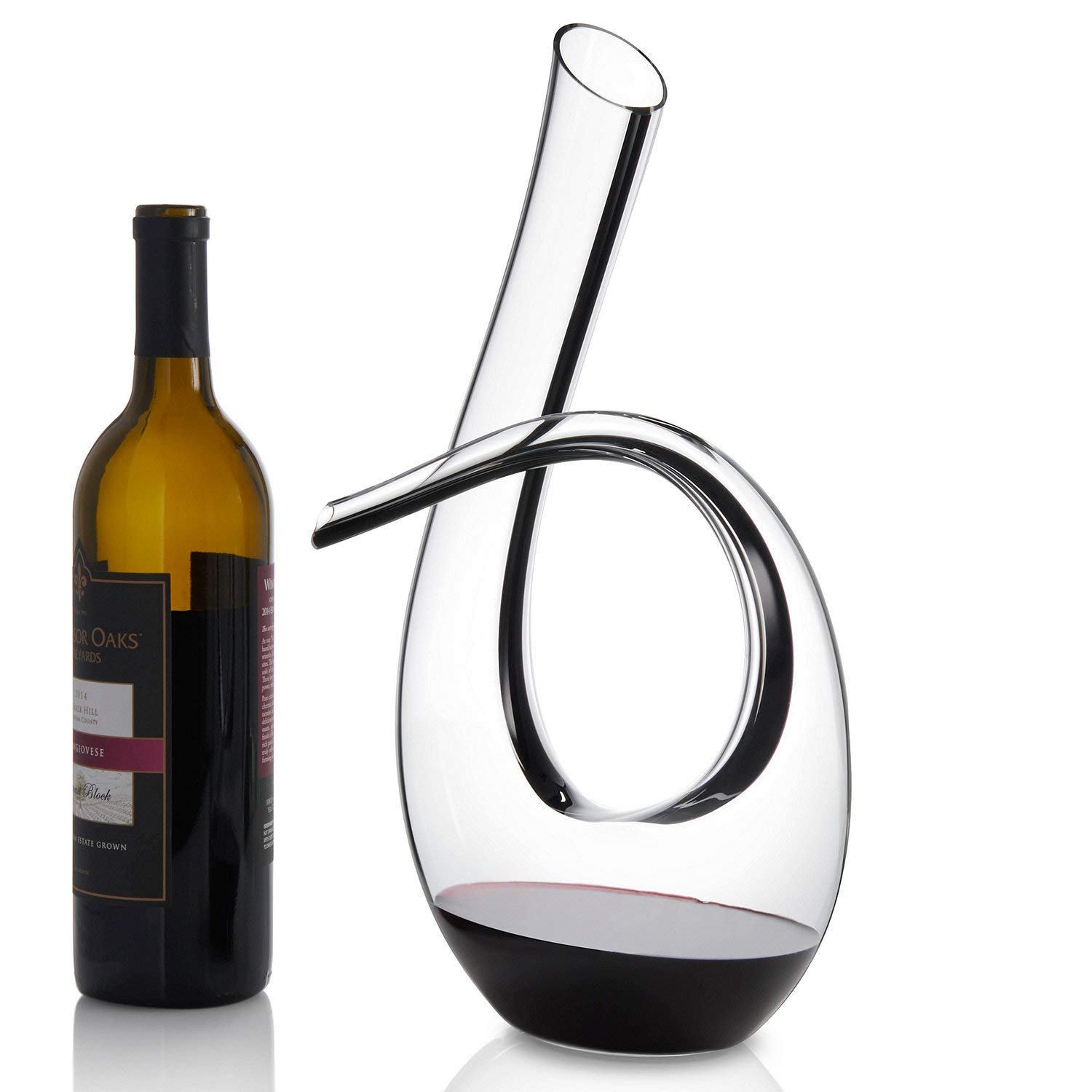 Wine Enthusiast Art Series Silhouette Black Stripe Wine Decanter by Wine Enthusiast (Image #3)
