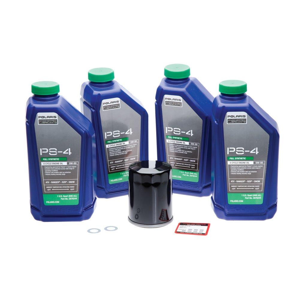 Tusk 4-Stroke Oil Change Kit Polaris PS-4 Plus 5W-50 - Fits: Polaris RANGER RZR XP 900 2011-2012