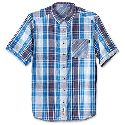 KAVU Men's Work It Button Down Shirts, Americana, Small