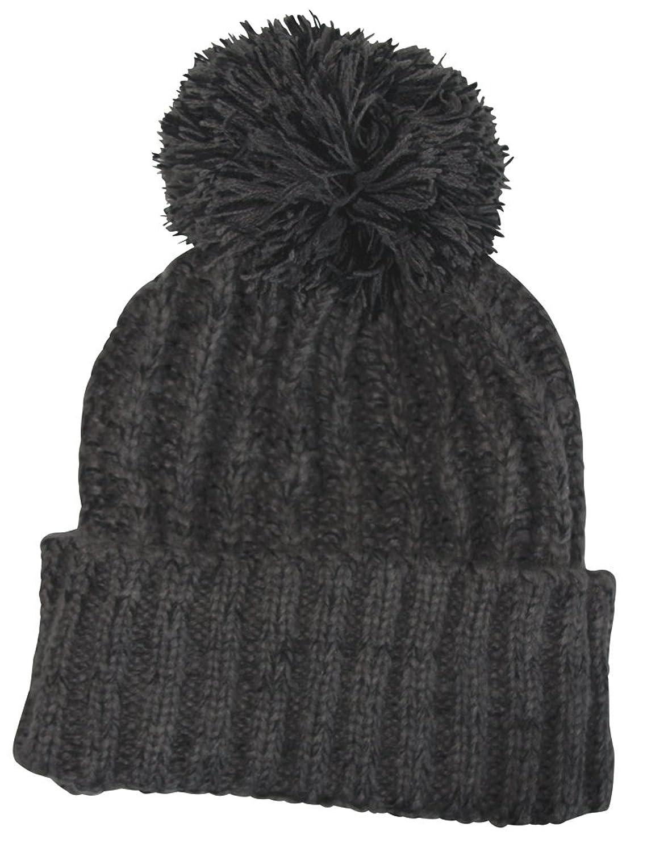 Damen Mütze, Herren Mütze, Unisex, Wintermütze, Grau, Schwarz, 100% Acryl, Ski-Mütze mit hervorragenden Anwendungen