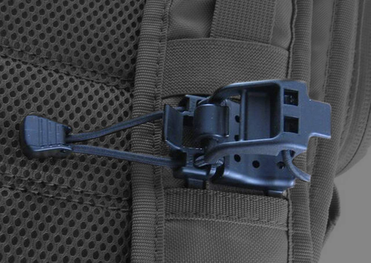 Tactical Gear Clip - Multipurpose Fastener For Clipping Gear To Backpack (Compatible With Molle Bags)