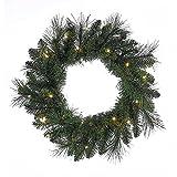 Kurt Adler H4097 18'' Green LED Wreath