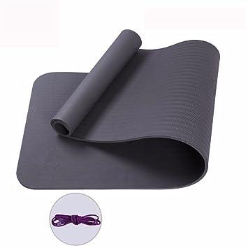 Esterilla de yoga (10 mm de grosor Fitness ejercicio mat ...