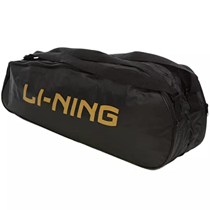5575ee011e Buy Li-Ning Sign Polyester Badminton Kit Bag (Black) Online at Low Prices  in India - Amazon.in