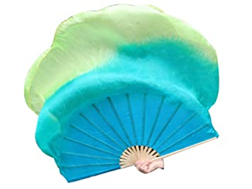Amazon.com: Sirenny - 1 abanico de seda china para danza de ...