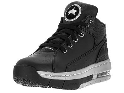 5e2cd5823f8 Image Unavailable. Image not available for. Color  Jordan Nike Men s Ol School  Low Black Metallic Silver Black Basketball Shoe ...