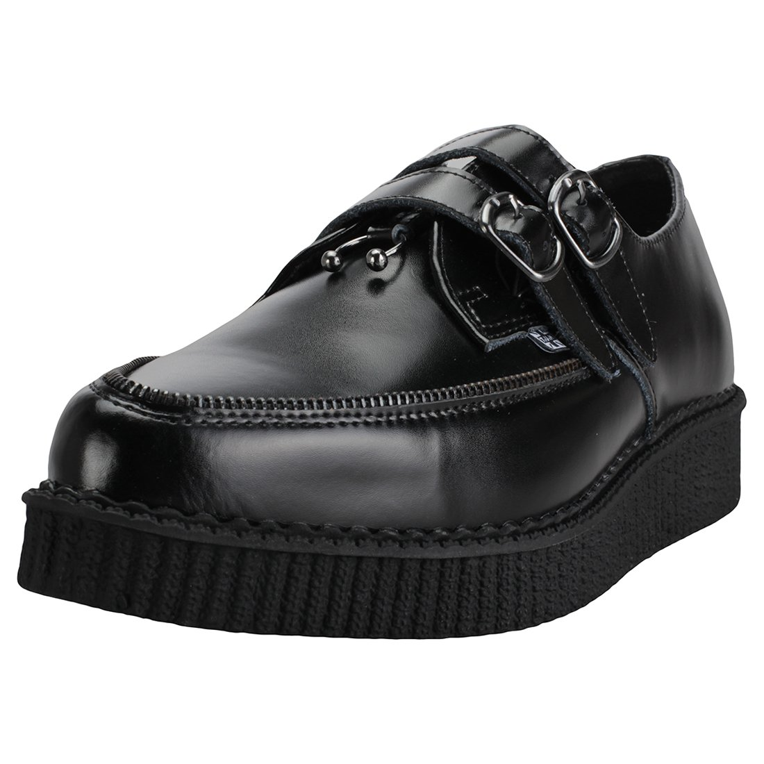 TALLA 43 EU. T.U.K Zipper Pierced Pointed Creeper Hombres Zapatos