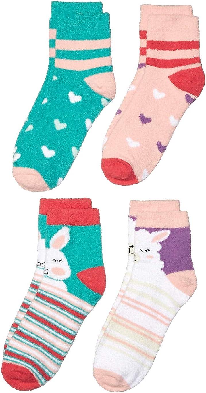 Amazon Brand - Spotted Zebra Girls' Fuzzy Cozy Socks