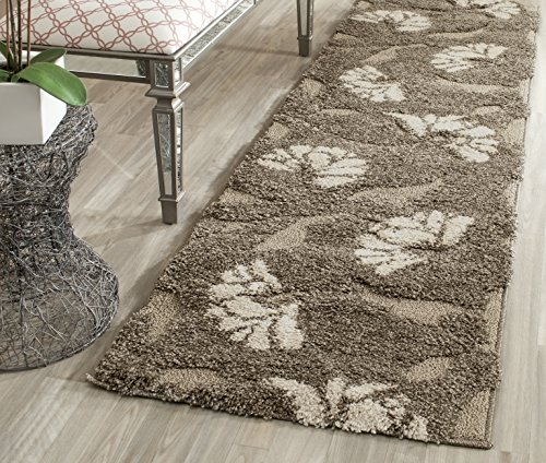 Safavieh Florida Shag Collection SG459-7913 Smoke and Beige Runner (2'3