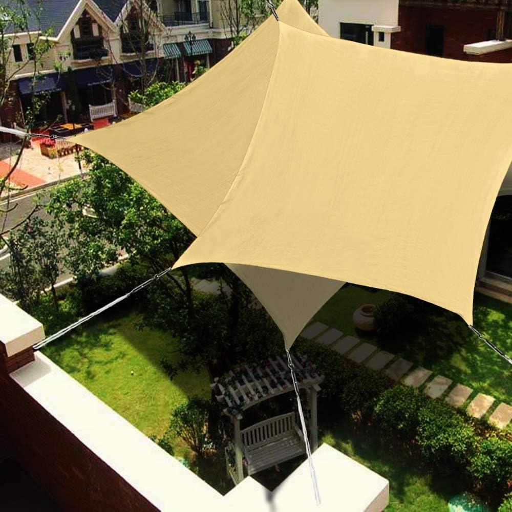 XLINGZ Toldo Vela Protección Rayos UV Pergola Kit Porche - Beige ...
