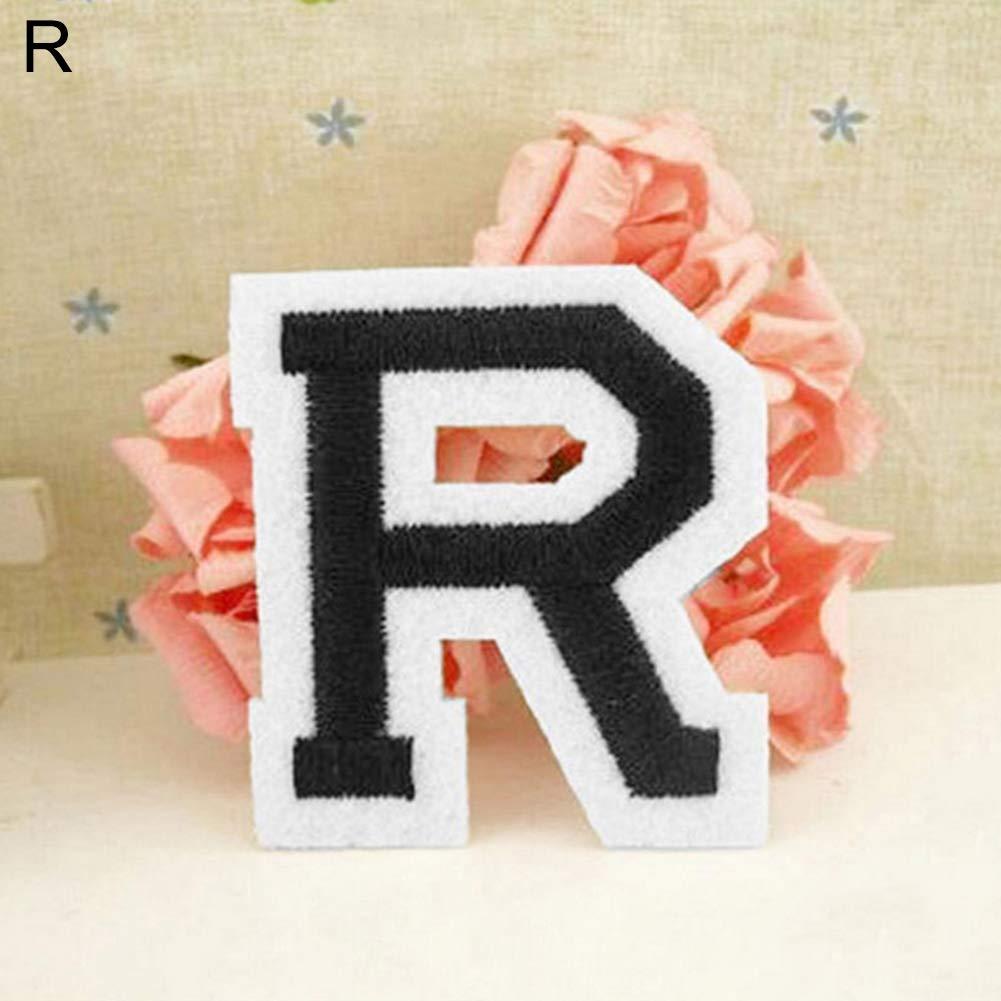 Parche bordado con la letra del alfabeto ingl/és para coser o planchar A