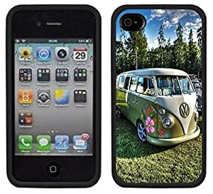 meilz aiaiHippie Hippy Van Bus Handmade iPhone 4 4S Black Casemeilz aiai