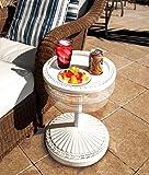 O2COOL Adjustable Pool & Patio Table, White