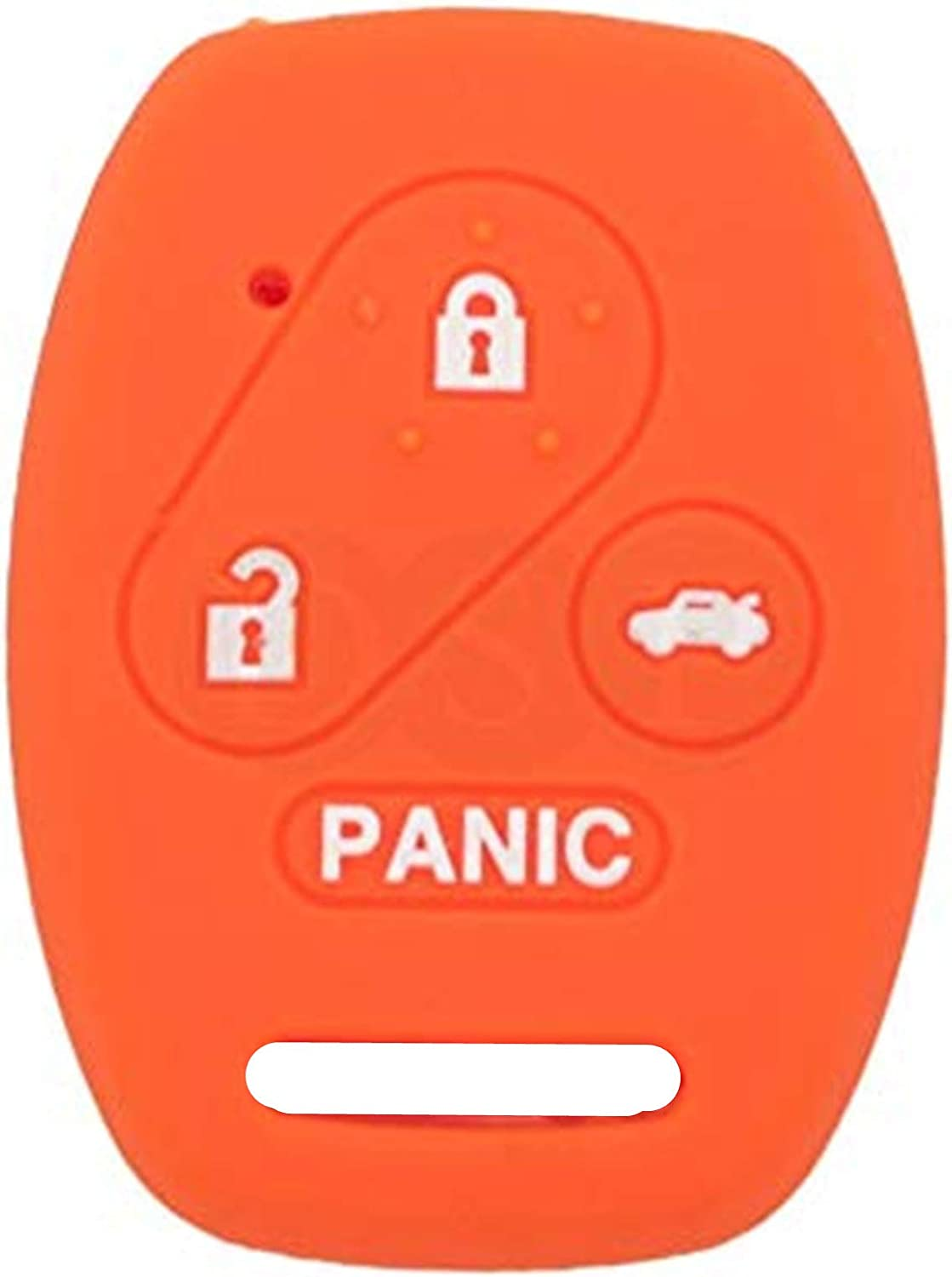Orange KAWIHEN Silicone Smart Remote Keyless Entry Key Fob Cover Holder Protector For Honda Accord Accord Crosstour CR-V Civic Element Pilot OUCG8D-380H-A N5F-S0084A N5F-A05TAA