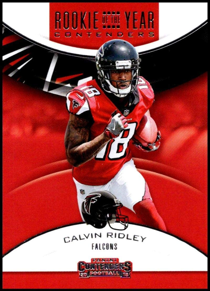 Amazon Com 2018 Panini Contenders Rookie Of The Year Contenders Rya Cr Calvin Ridley Atlanta Falcons Rc Rookie Nfl Football Trading Card Collectibles Fine Art