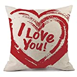 Whats the Difference Between King and California King Mattress iYBUIA Valentine's Day Fashion Throw Pillow Cases Cafe Sofa Cushion Cover Home Decor