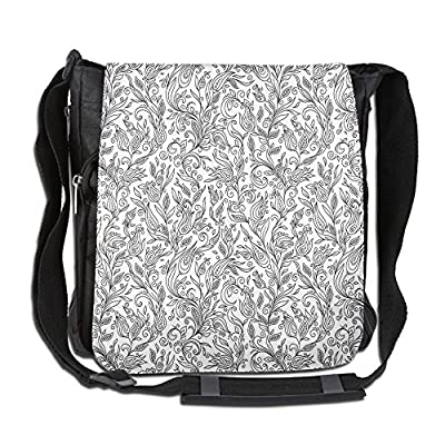 28c9d76fc79c durable modeling Lovebbag Flowers Swirls Ivy With Leaves Indian Modern  Paisley Inspired Image Sketchy Crossbody Messenger