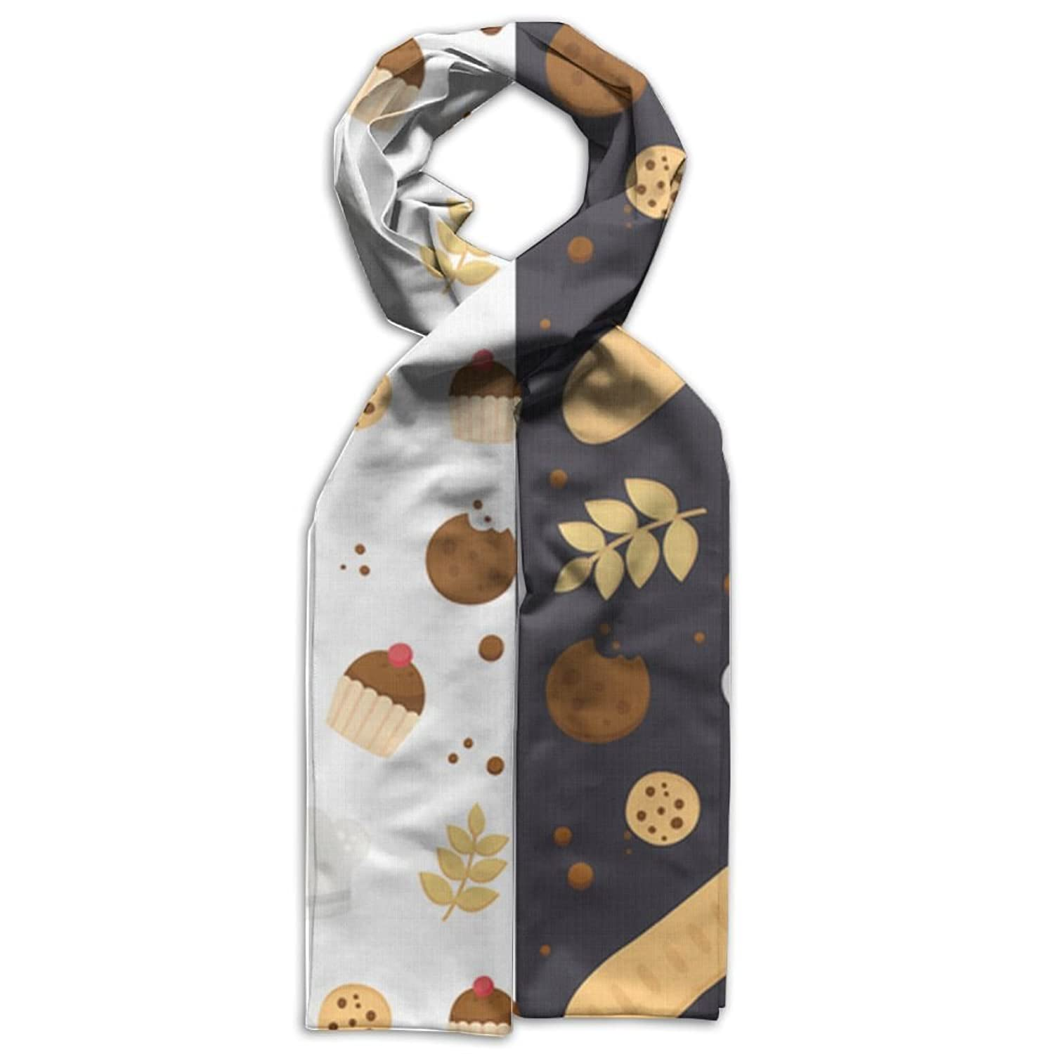 Bakery And Cookies Young Gift Box Double Side Navy Scarves