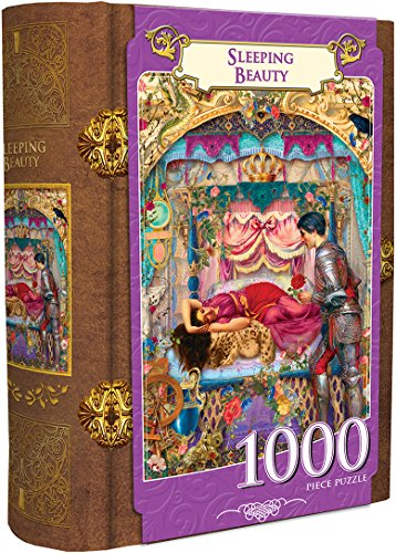 MasterPieces Sleeping Beauty 1000 Piece Book Box Jigsaw Puzzle - Sleeping Beauty Jigsaw Puzzle Book