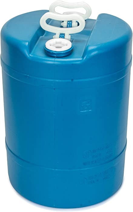 15 Gallon Emergency Water Storage Barrel - 1 Tank - Preparedness Supply - Water Tank Drum Container - Portable, Reusable, BPA Free, Food Grade Plastic