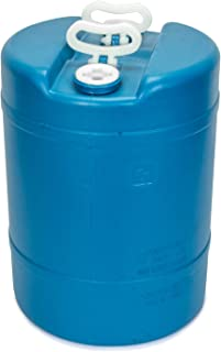 product image for 15 Gallon Emergency Water Storage Barrel - 1 Tank - Preparedness Supply - Water Tank Drum Container - Portable, Reusable, BPA Free, Food Grade Plastic