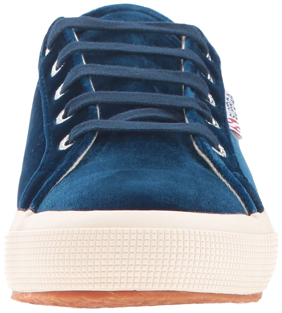 Superga Women's 2750 Velvtw Fashion Sneaker, Blue, 39.5 EU8.5 M US