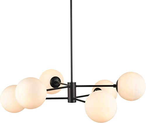 Caserti Mid Century Modern 6 Light Chandelier