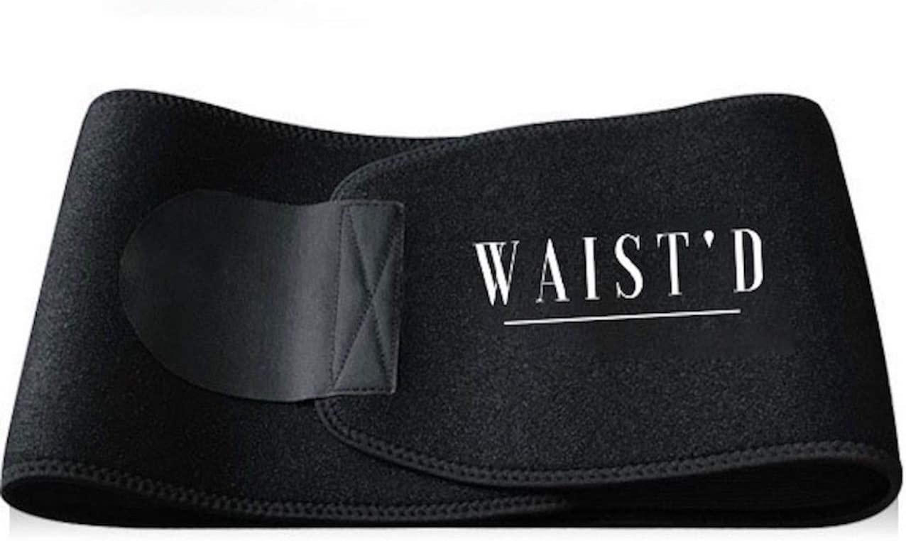 Swanky Adjustable Black Waist Trimmer Sauna Belt for Men and Women Promotes Maximum Weight Loss for Optimal Fat Burning Toning in Stomach