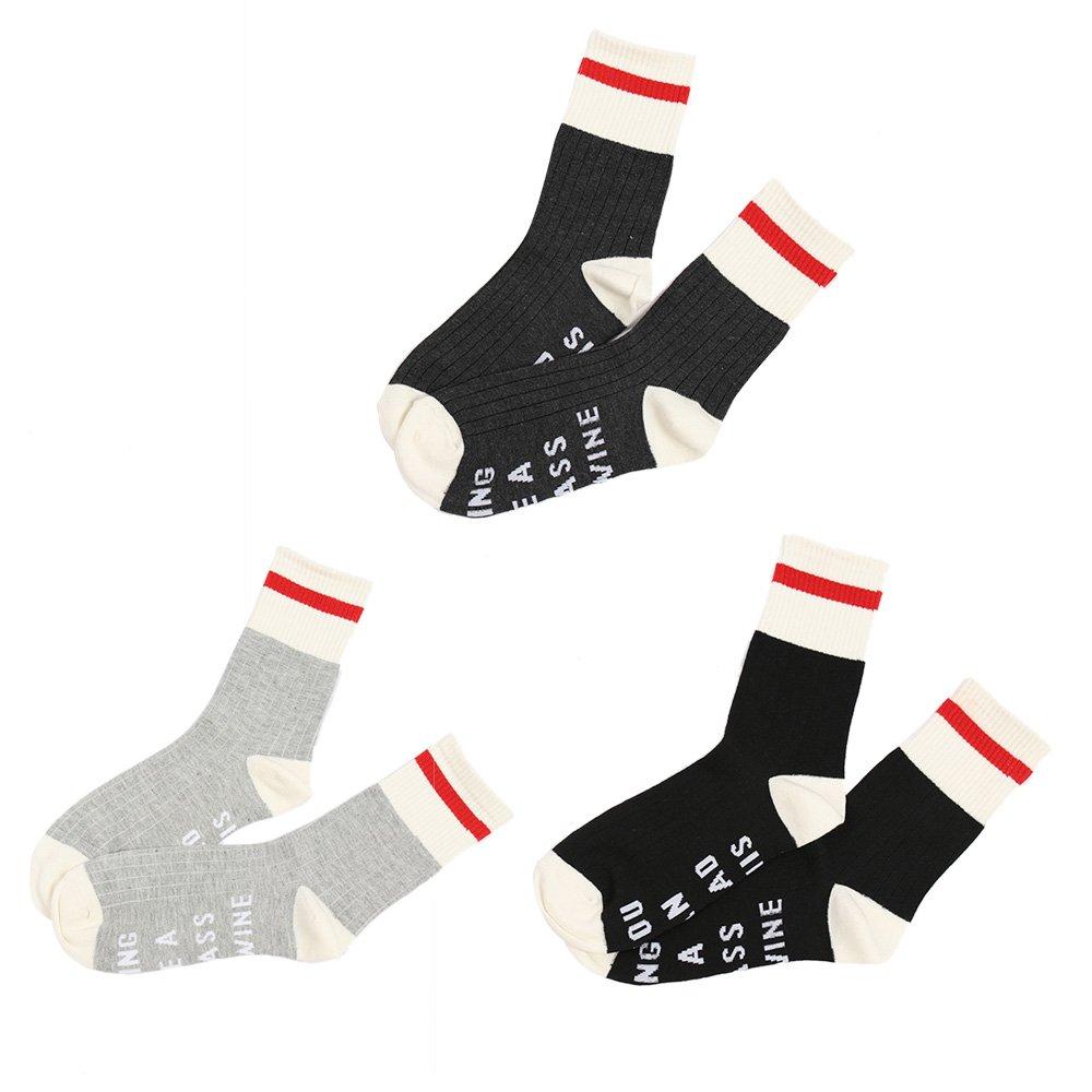 AHZZY Winter Womens Socks with Sayings on Bottom Men Girl Boy Wine Socks