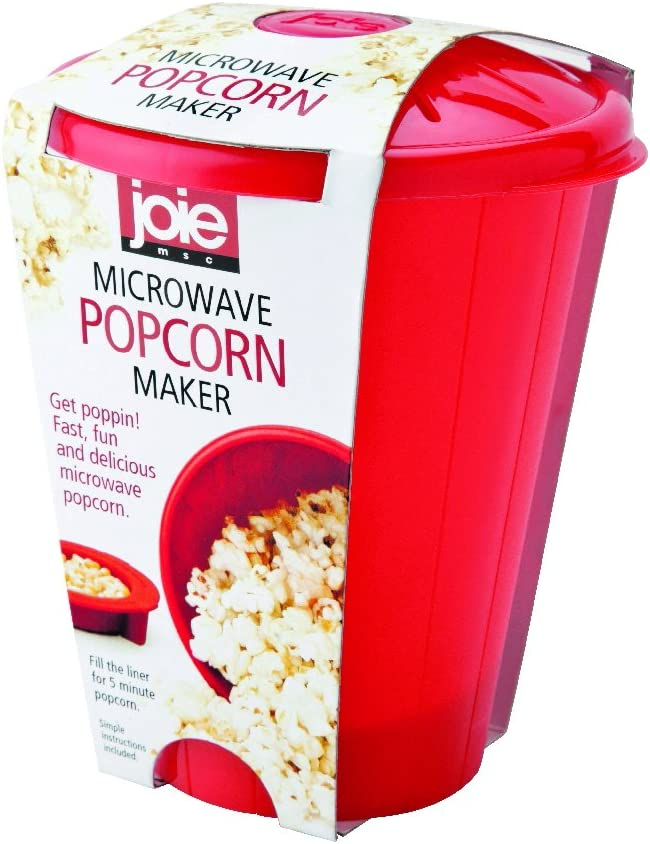 MSC International Joie Microwave Popcorn Popper Maker, Silicone, Makes 4-Cups