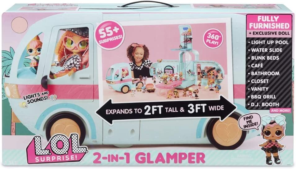 Lol Surprise Glamper, 55 Sorprese, 1 Bambola Esclusiva
