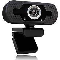 XVZ 1080p webbkamera med mikrofon, videosamtal i full HD 1080p/30 fps, tydligt stereoljud, för stationär PC, MAC, bärbar…