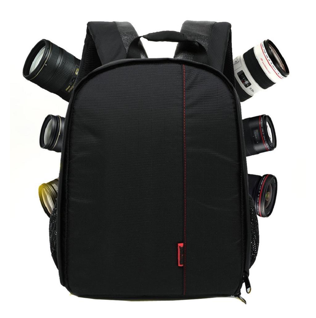 Sannysis Mochila para cámaras deportivas impermeable del morral para Canon  para Nikon para Sony color Rojo 091855f255746
