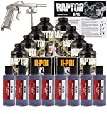 U-POL Raptor Bright Purple Urethane Spray-On Truck Bed Liner Kit w/ Free Spray Gun, 8 Liters