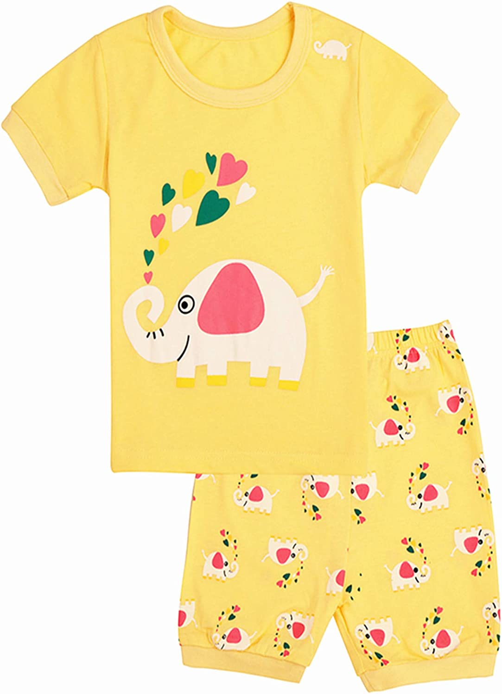 Qtake Fashion Bambine Pigiama 2 Pezzi da Bambina 100/% Cotone