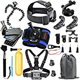 #10: HAPY Sports Action Professional Video Camera Accessory Kit for GoPro Hero5 Black, Hero5 Session, HERO6 Black,Hero 4 Silver Black, Hero Session, Hero3+ 3 2 1, SJCAM,AKASO,Xiaomi,Camera (20-in-1)